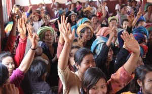 Helping women find their voice is a critical part of democracy and the peace making process.